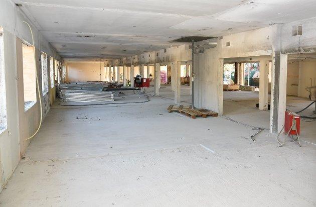 Gamle Modumheimen rustes opp. Dette bildet er fra 2. etasje.