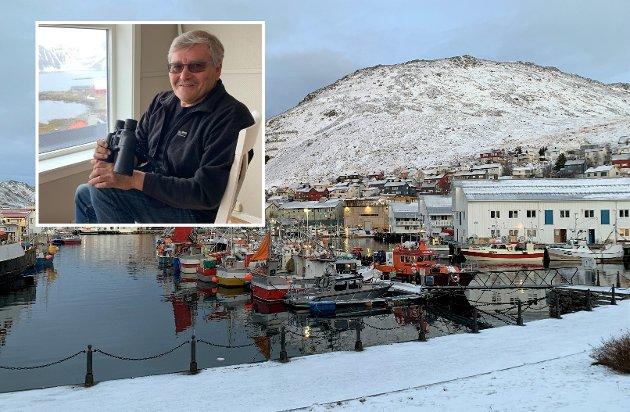 Bernt-Aksel Jensen og Honningsvåg havn.