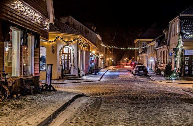 VERDIFULLT: Dette området i Raadhusgaten skal være inspirasjonen til NRK-suksessen «Jul i Skomakergata», og Riksantikvaren bruker nå Gamlebyen som eksempel på milliardverdier som skapes, som følge av kulturminnevern i ettertraktede områder.