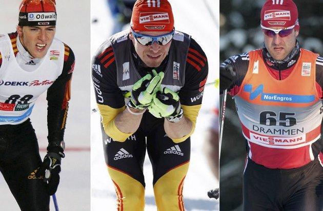 Borte: Fra skiløypene: Jens Filbrich, Tobias Angerer og Axel Teichmann, de har lagt opp. Foto: Nettavisen