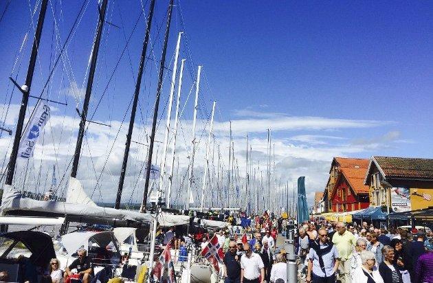 Samarbeid må til: Slik ser det ut i Tønsberg når Færdern inntar byen. Hva kan Holmestrand få til med Skagen Race i mai? Foto: Anne Charlotte Schjøll