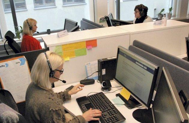 Super innsats: Over 6.000 telefoner daglig har ansatte her måttet svare på. Foto: Helfo