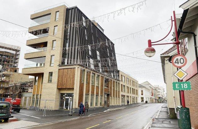 Velkommen: Kid Interiør er første butikk på plass i det nye kvartalet. Foto: Pål Nordby