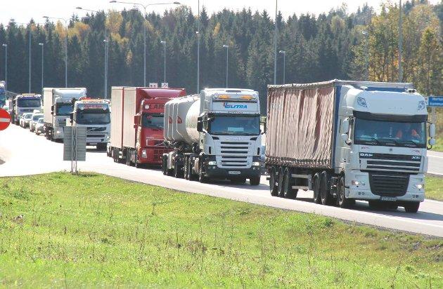 Transportfag: Flere transport- og logistikk-bedrifter vil etablere seg nær E18. Foto: Pål Nordby