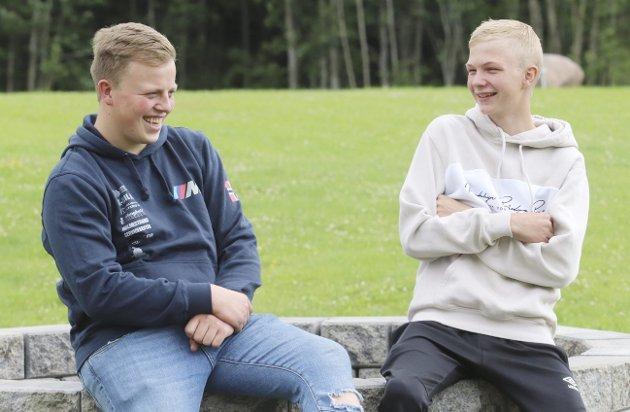 Vinnerskaller: Marius Solli Poulsen og Marius Solberg Hansen er vinnervante. Foto: Pål Nordby