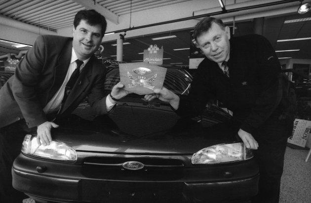 Moss Bil, 1993. Thorbjørn Pollen til høyre.