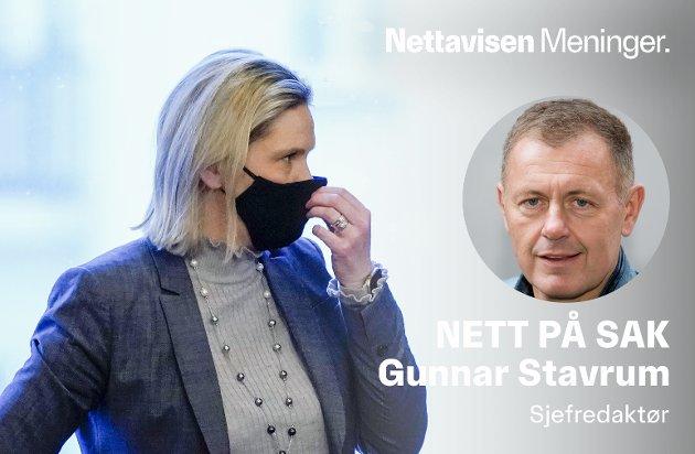 MILLIARDER: Fremskrittspartiets nestleder Sylvi Listhaug gjør felles sak med Arbeiderpartiet og henter milliarder ut fra statskassen.
