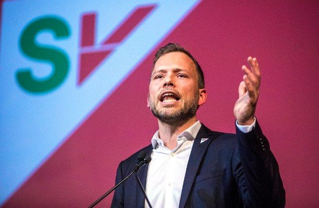 Verdig markering: SV-leder Audun Lysbakken er hovedtaler under 1. mai-markeringen i Jessheim. Innsenderen mener det fortsatt er viktig å markere arbeidernes dag.
