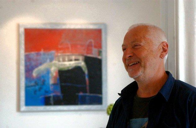 2004: Kunstner Jan Svensen stiller ut malerier i Galleri Graphique.