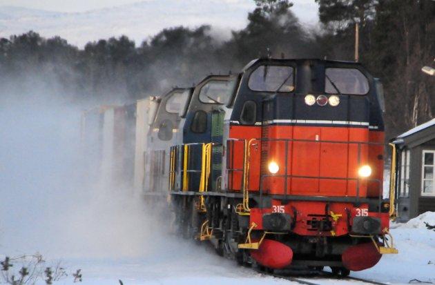 Green Cargo avvikler godstransporten mellom Åndalsnes og Oslo. Det betyr flere vogntg på E6 gjennom Gudbrandsdalen.