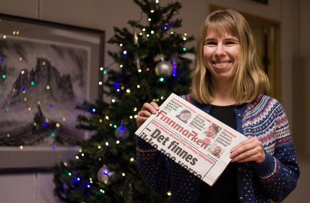 STRESSA: Den siste dagen før jul er redaktør Anniken Renslo Sandvik stressa over alle gjøremålene som ennå ikke er gjort, men hun håper på julefred når jula ringes inn.