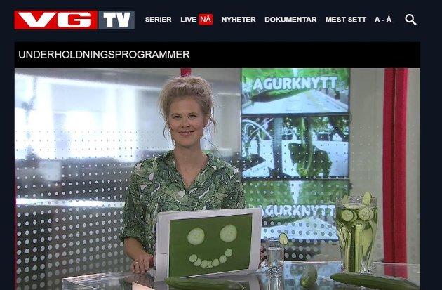 Skjermdump fra VG TVs satsing.
