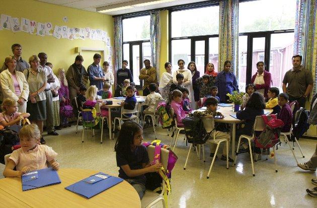 Hyllest:  Jeg har blitt imponert over hvilken evne skolene viser til å fange opp og omfavne mangfoldet i livssyn, legning, funksjonsevner, og til å gi mangfoldet et språk og en praksis som elevene kan forholde seg til.  Foto: NTB Scanpix