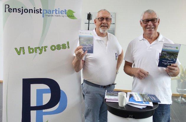 Arild Margido Johansen og Svein Viggo Johansen fra Pensjonistpartiet.