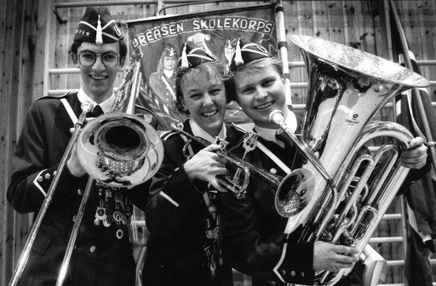 Øreåsen skolekorps, april 1992.