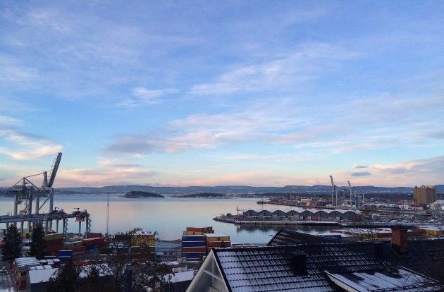 Fra Ormsundkaia før flytting av containerhavnen