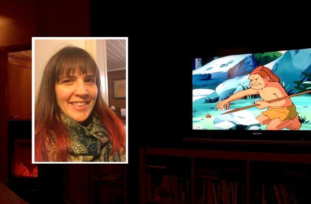 Nina Borge skulle vise ungene den gamle tegnefilmserien Det var en gang et menneske, men ble skuffet over at historiefortellingen har redusert alle kvinnene i serien til biroller.