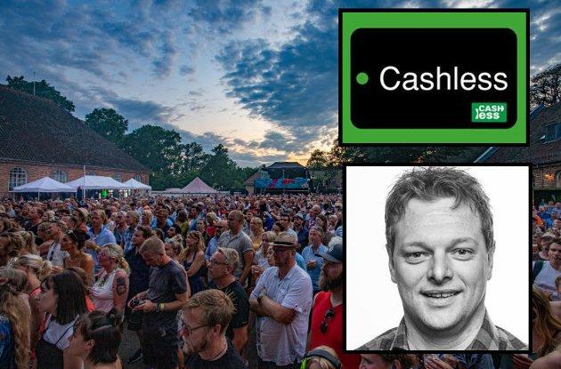 – Cashless på årets månefestival var katastrofe, mener Ragnar Ringstrøm.