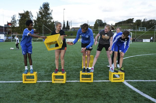 Even Yohannos, Marthe Haagensen, Jaran Skoglund, Nora Lyngset og Sander Tømte samarbeidet godt under konkurransene.
