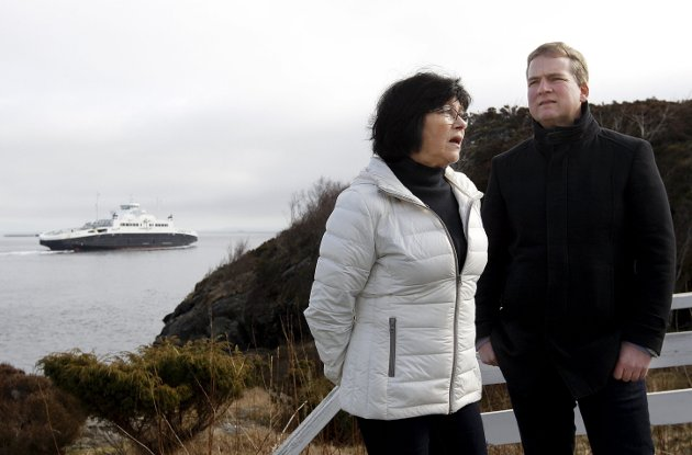 PÅDRIVERE: Sveinung Stensland og Bente Thorsen er glade for at staten bidrar med mer penger.FOTO: HARALD NORDBAKKEN