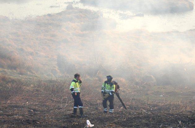 Store områder ble svidd av som følge av brannen.