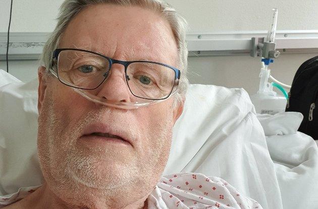 SYK: Jan Åge Matland lå 17 dager på sykehuset, og er blant dem som deler sine erfaringer.PRIVAT FOTO
