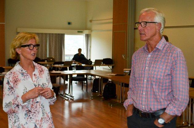 DAGENS STYRE: Nestleder Torbjørn Almlid og styreleder Toril B. Ressem i Sykehuset Innlandet.