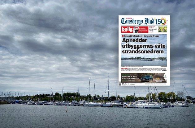 HJEMSENG: I et tendensiøst og sensasjonspreget oppslag på forsiden 27 mai, anklages Arbeiderpartiet for å løpe ærend for utbyggerselskapet Format Eiendom, mener Steinar Gullvåg.