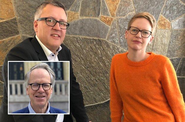 LYDMUR: Ordførerne Rune Støstad (Ap) og Anette Musdalslien (Sp) er leder og nestleder i Gudbrandsdalstinget. Tirsdag skal tinget ta til orde for kraftige endringer i distriktspolitikken.  De bør sprenge den politiske lydmuren for å bli hørt, oppfordrer Hallvard Grotli.