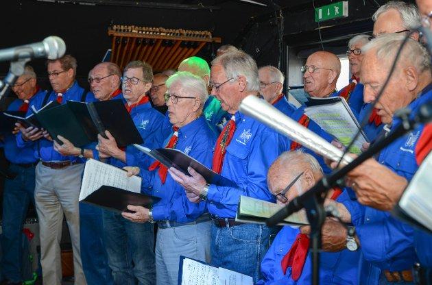 Kragerø sangforening holdt en flott konsert på Stoppen lørdag ettermiddag.