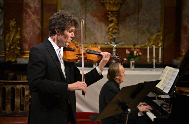 Kongsberg kirke konsert Håkon Austbø og Tor Johan Bøen   FOTO: JAN STORFOSSEN
