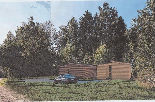 Robuste boliger: Tverrveien 6 på Ekholt ligger i tettbebygd boligbebyggelse og er ikke egnet for robuste boliger, mener de i Ekholt Velforening.