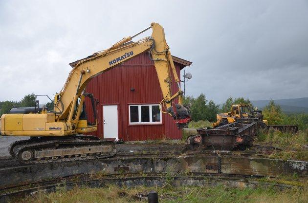 HISTORIE: Svingskiva ved jernbanestasjonen blir fjernet for godt.