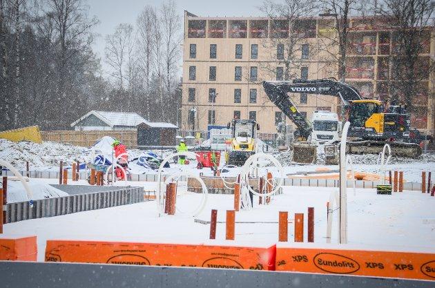 NY STUDENTBY: Studentsamskipnaden i Ås (SiÅs) utvider antall studentboliger på Kaja i Ås kraftig. Nesten 800 nye studentboliger er under bygging.