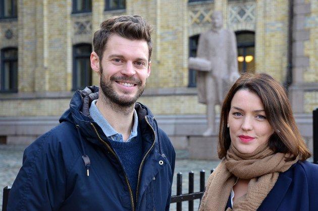 Bjørnar Moxnes og Synne Høyforsslett Bjørbæk vil inn på Stortinget og ta kampen mot velferdsprofitørene på nasjonalt nivå