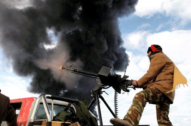 Fra krigen i Libya i 2011. Norge deltok med sine krigsfly.