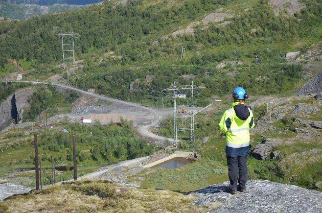 Fra kraftutbygging i Tysfjord