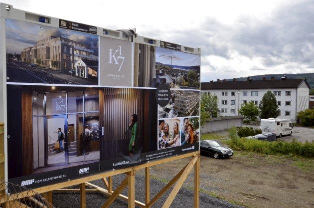 Kvartal 17: Den nye boligblokken i Storgata reiser seg til tross for protester fra naboene.