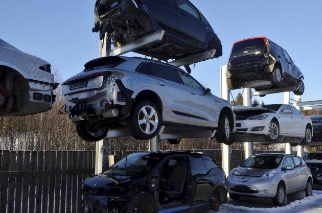 Skrekkelig: Hvis det ikke lønner seg å reparere relativt små skader, er det en katastrofe for elbilpolitikken.