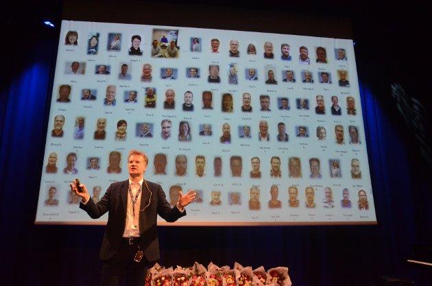 Tore Morten Wetterhus fra Glitre Energi roste de ansatte.