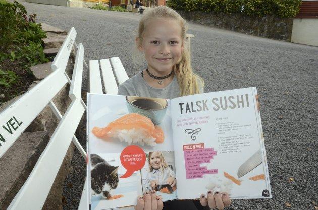 Håkon Forfod Sønnelands eldste datter Vilja (fyller 11 torsdag!) har vært med i alle bøkene hans. I Kult med mat har hun laget både falsk sushi og en dose eggedosis. - Det er veldig godt, men favoritten er taco, innrømmer hun.