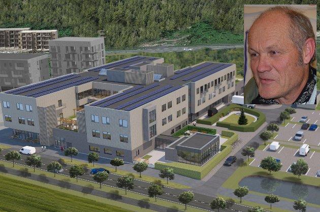 ELDREOMSORG: «Det koster mye, men er ikke luksusforbruk», skriver Stein Buan (Rødt) om det nye helse- og omsorgssenteret i Lunner.