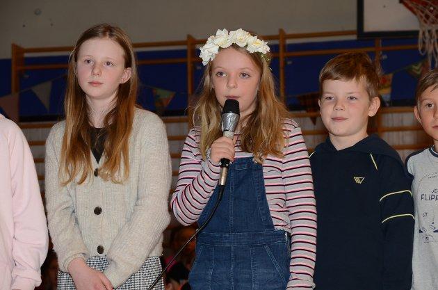 3. KLASSE: Hadde skrevet skolens egen jubileumssang, til ABBA-melodien The winner takes it all.