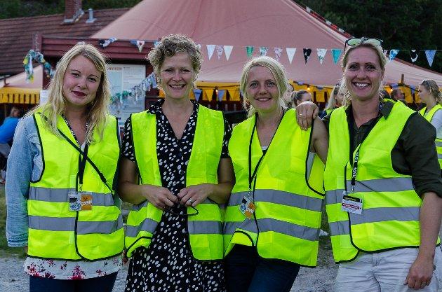 Martine Bjørnstad(f.h.), Solveig Vitanza, Cathrine Orud og Anne-Marthe Bodal Bye er fornøyde med resultatet etter lang tid med planleggingen til Fest Under Eika