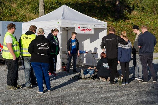 Også Røde Kors var til stede på rånertreffet arrangert av Norway Cruising.