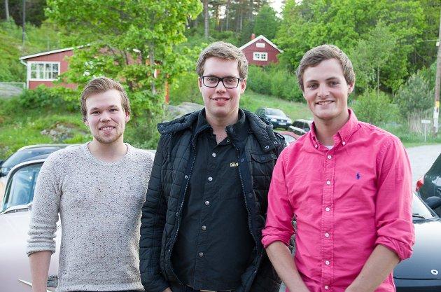 Henrik Vaglen(f.v.), Adrian Liaklev og Stian Svang