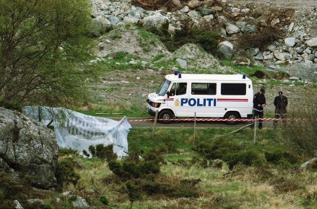 ÅSTEDET: Birgitte Tengs ble funnet drept ved Sundvegen ikke langt fra hennes hjem, 6. mai 1995.