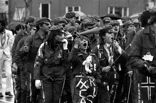 17. mai 1987 Rødruss i Mosjøen.