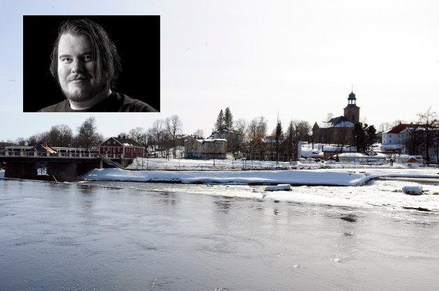 FLOTT UTSIKT: Frister ikke tanken på et sted i Kongsberg med uteservering og denne utsikten, undrer Torgrim Bakke i denne kommentaren.