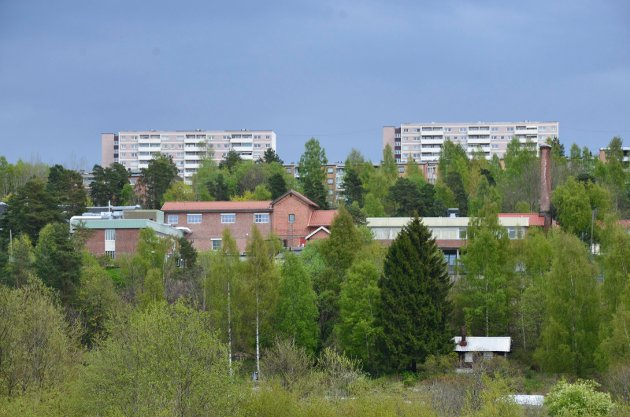 ETERFABRIKKEN: Den fraflyttede eterfabrikken ligger på en høyde på grensen til Østensjøområdet miljøpark. Arkivfoto: Nina Schyberg Olsen